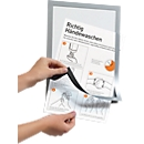 "DURABLE Magnetrahmen DURAFRAME A4 ""Handhygiene"", 2er-Set inkl. 2 Infoblätter in D, EN, FR & NL, Format A4, silber"