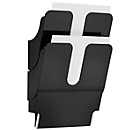DURABLE Prospektspender Flexiplus 2, 2 Spender, A4, hoch, schwarz