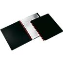 DURABLE Sichtbuch Easy, für DIN A4, 20 Sichthüllen, 2 Stück, schwarz