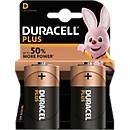 DURACELL® batterij Plus, Mono D, 1,5 V, 2 stuks