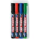edding 360 whiteboard marker, diverse kleuren, set van 4, ronde punt