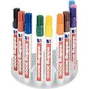 edding systeemdoos permanent markers 3000, incl. 10 markers, diverse kleuren