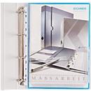 EICHNER Dehnfalten-Dokumentenhüllen, DIN A4, oben offen, rechts halboffen, 10 Stück,