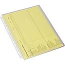 EICHNER documenthoesjes met vouw, A4, bovenaan open, 10 stuks, volledig transparant