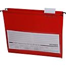 Eichner Hängetaschen, für Formate bis Din A4, PVC, 10 Stück, rot