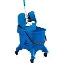Einfachfahreimer Poly I, 30 L Eimer, fahrbar, m. Profi-Mopppresse und Stielhalterung