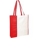 Einkaufstasche City-Bag 3, inkl. 1 farbigem Werbedruck und Grundkosten, weiß/rot