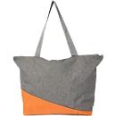 Einkaufstasche OSLO, 300D Kunststoff, Reißverschlussfach, 2 lange Schultergurte, Werbedruck 200 x 140 mm, orange