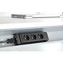 Elektrificatie-set voor kabelgoten, 3-voudig stopcontact