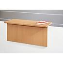 Empfangstheke Come-In, 1 Ablage, gerade, Breite 1600 mm, weiß/Buche-Dekor