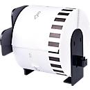 Endlosetiketten kompatibel zu Brother DK-22205, 62mm x 30,48m, Papier weiß, selbstklebend, permanent