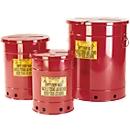 Entsorgungsbehälter aus Stahlblech, Handbedienung, 23