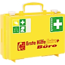 Erste-Hilfe-Koffer Extra+ BÜRO SN-CD, DIN 13157, gelb, Reflektionsstreifen, inkl. Wandhalterung, befüllt, ABS-Kunststoff