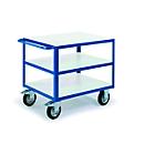 ESD-Tischwagen mit 3 Ladeflächen, 1000 x 700 mm, Tragkraft 500 kg