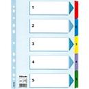Esselte kartonnen indexbladen Mylar, cijfers 1-5