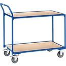 Etagewagen, 2 etages, licht, 850 x 500 mm, blauw RAL 5007
