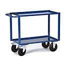 Etagewagen, 2 laadvlakken/plaatstalen bakken, 995 x 695 mm, draagvermogen 400 kg