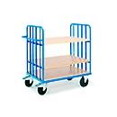 Etagewagen met duwbeugel, 1000 x 700 mm, met verstelbare indeling van legborden