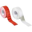 Etiketten met gegolfde rand, 26 x 12 mm, 10 rollen, wit (permanent)