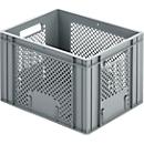 Euro Box Bäcker-Kasten, lebensmittelecht, Inhalt 20,2 L, durchbrochene Version, grau