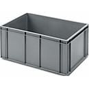Euro Box Bäcker-Kasten, lebensmittelecht, Inhalt 56,8 L, geschlossene Version, grau