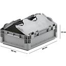 Euro Box Leichtbehälter ELB 4120, aus PP, Inhalt 10,9 L, mit  Deckel, grau