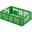 Euro Box Obst-und Gemüsekasten, lebensmittelecht, Inhalt 33,9 L, durchbrochene Version, grün