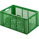 Euro Box Obst- und Gemüsekasten, lebensmittelecht, Inhalt 55,7 L, durchbrochene Version, grün