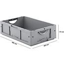 Euro Box Serie LTB 6170, aus PP, Inhalt 30,7 L, ohne Deckel, grau