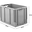 Euro Box Serie LTB 6420, aus PP, Inhalt 82,3 L ohne Deckel, grau