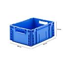 Euro Box Serie MF 4170, aus PP, Inhalt 14,6 L, Durchfassgriff, blau