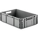 Euro Box Serie MF 6170, aus PP, Inhalt 30,8 L, Durchfassgriff, grau