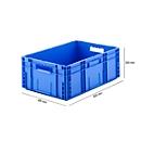 Euro Box Serie MF 6220, aus PP, Inhalt 41,6 L, Durchfassgriff, blau