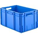 Euro Box Serie MF 6320, aus PP, Inhalt 62,3 L, Durchfassgriff, blau