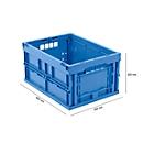 EURO-Maß Faltbox 4322, ohne Deckel, für Lager- und Mehrwegtransport,  Inhalt 20,3 Liter, blau