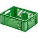 Eurobox fruit- en groentebak, geschikt voor levensmiddelen, inhoud 11,9 l, geperforeerde uitvoering, groen