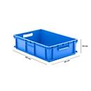 Eurobox serie EF 6150, van PP, inhoud 29,4 l, gesloten wanden, blauw, open handgreep