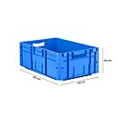 Eurobox serie LTF 6220, van PP, inhoud 42 l, open handgreep, blauw