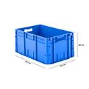 Eurobox serie LTF 6280, van PP, inhoud 53,8 l, open handgreep, blauw