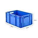Eurobox serie MF 6270, van PP, inhoud 52 l, open handgreep, blauw