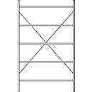 Fachbodenregal SSI Schäfer R3000, Grundregal, 5 verzinkte Böden, Tiefe 300 mm, Fachlast 150 kg, B 1345/1315 x H 1960 mm