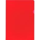 FALKEN Sichthülle, DIN A4, genarbt, 100 Stück, rot