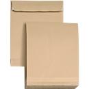 Faltentaschen, DIN C4, braun, 5 Stück