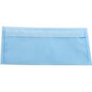Farbige Briefumschläge DIN lang (110 x 220 mm) ohne Fenster, mit Haftklebung, himmelblau