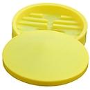 Fasstrichter mit abnehmbarem Deckel, für 100 l IBC Tanks, Ø 640 mm, integriertes Abfallsieb, PE, gelb