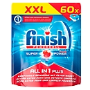 Finish vaatwastabletten All in 1 Plus, XXL pack, 60 tabs