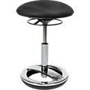 Fitness-Hocker SITNESS BOB, ergonomisches Sitzen, Sitzhöhe 440 bis 570 mm, schwarz, Gestell verchromt