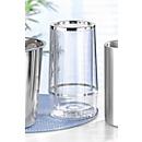 Flaschenkühler, außen H 225 x ø 115 mm, innen H 180 x ø 97 mm, doppelwandig, Chromrand, Kunststoff, silber-transp.