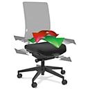 Flexibel zitvlak, voor bureaustoel SSI Project, vastzetbaar, voor actief beweeglijk zitten