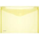 FolderSys documenthoes, A4 liggend, klittenbandsluiting, PP, geel